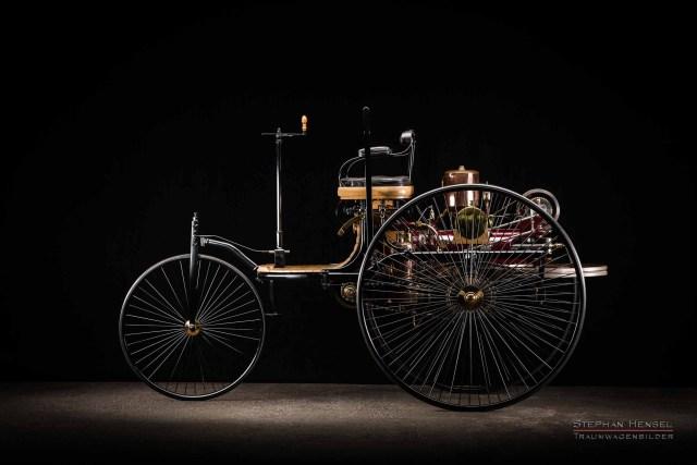 Benz Patent-Motorwagen Nr.1, Das erste Automobil, Linke Seite, Autofotografie: Stephan Hensel, Hamburg, Oldtimerfotograf, Oldtimer, Oldtimerfotografie