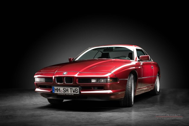 BMW 850i, 1991, Frontalansicht von links, Autofotograf, Hamburg, Automobilfotograf, Oldtimerfotograf, Oldtimerfotografie, Car Photography, Stephan Hensel