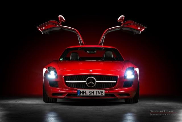 Mercedes-Benz AMG SLS, 2011, Frontansicht, Studioaufnahme, Frontansicht, Autofotografie: Stephan Hensel, Hamburg, Oldtimerfotograf, Autofotograf, Automobilfotograf