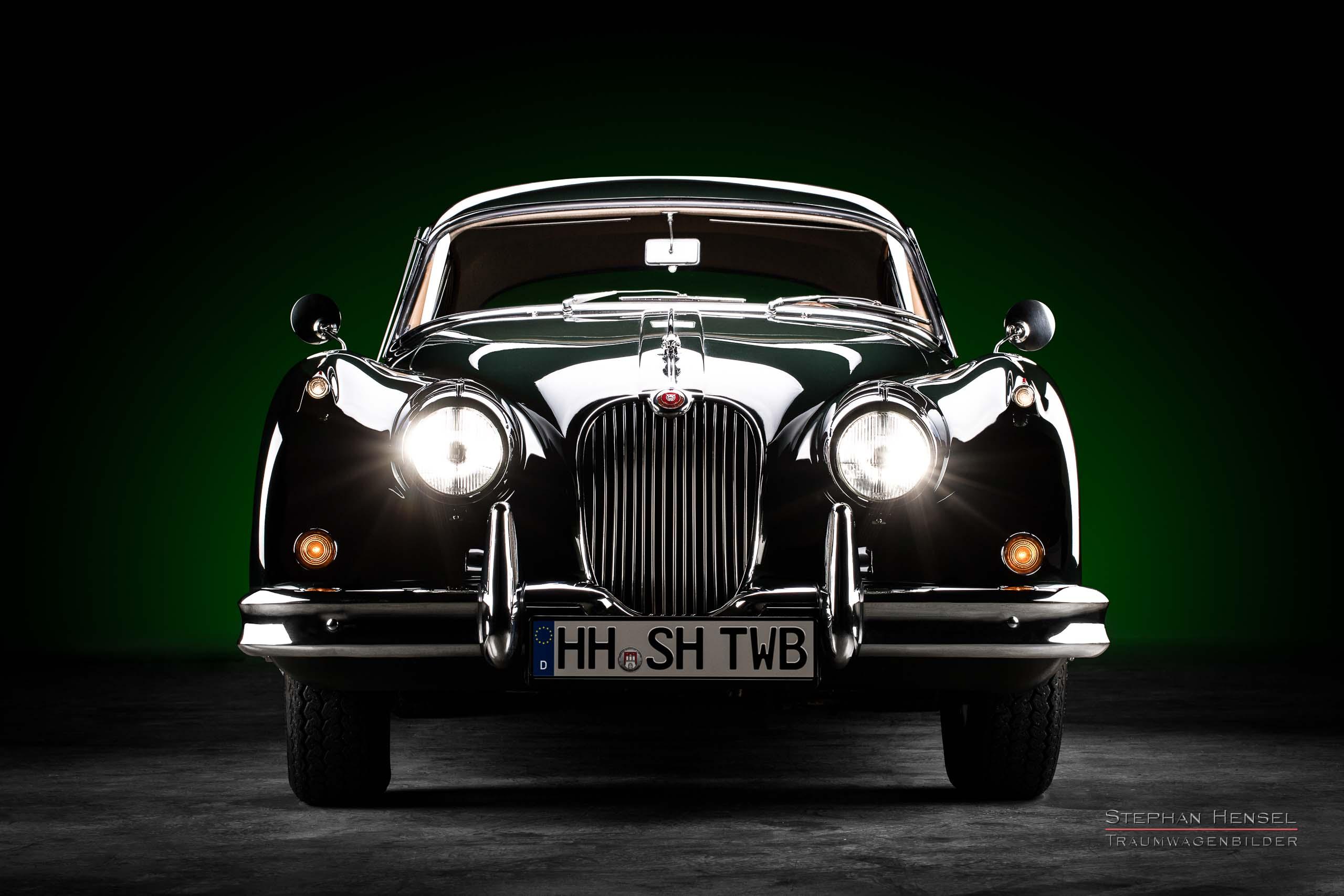 Jaguar XK 150 FHC, 1960, Frontalansicht, Autofotograf, Hamburg, Automobilfotograf, Oldtimerfotograf, Oldtimerfotografie, Car Photography, Stephan Hensel
