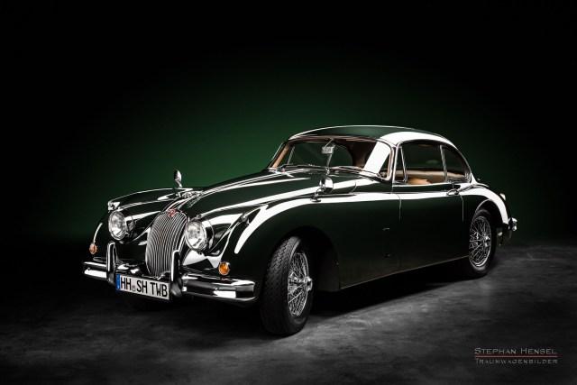 Jaguar XK 150 FHC, 1960, Seitenansicht von vorn, Autofotograf, Hamburg, Automobilfotograf, Oldtimerfotograf, Oldtimerfotografie, Car Photography, Stephan Hensel
