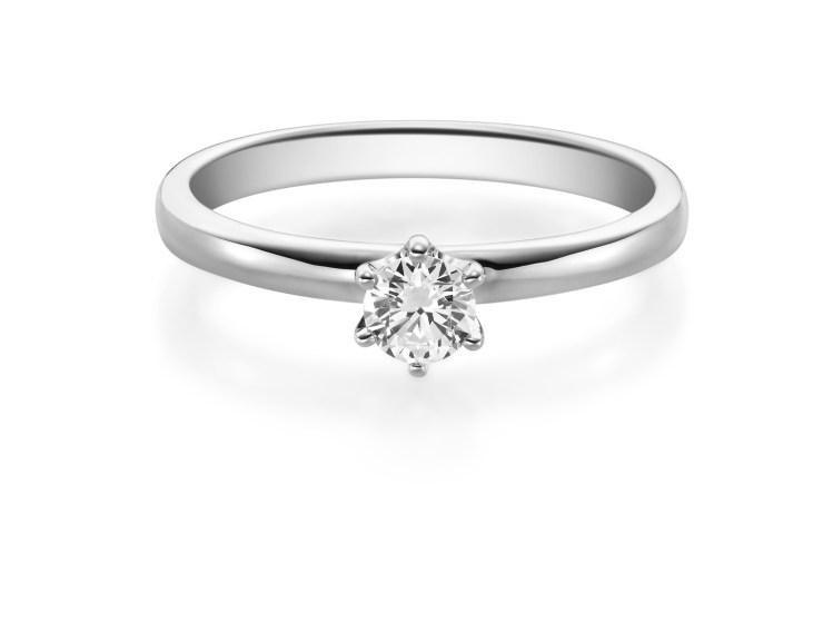 Verlobungsring Platin oder Weißgold mit Brillant