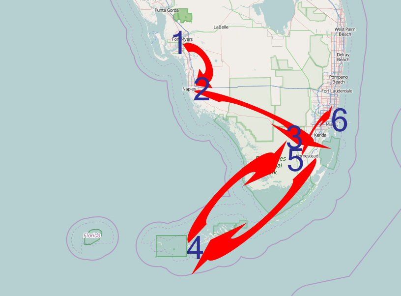 Itinerary Florida!
