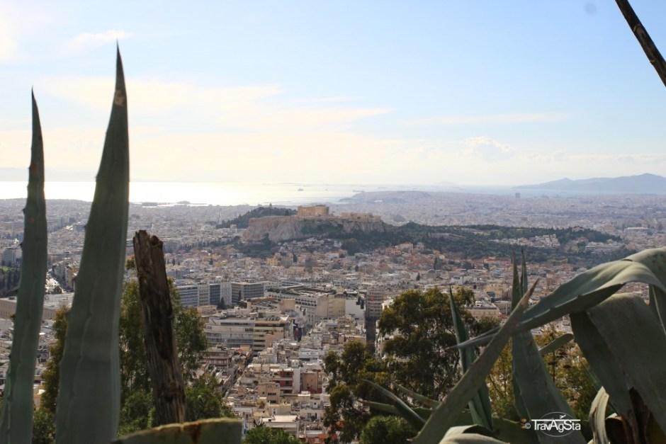 View from Lykabettus, Athens, Greece