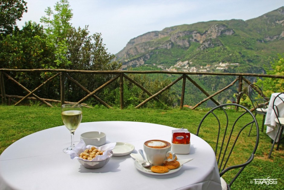 Wine and capuccino, Ravello, Amalfi Coast, Italy