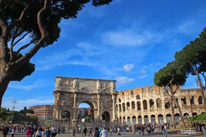 Colosseo, Arch of Trajan, Rome, Italy