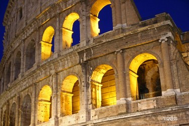 Rome, Colosseo by Night