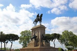 Piazza Garibaldi, Gianicolo, Rome, Italy
