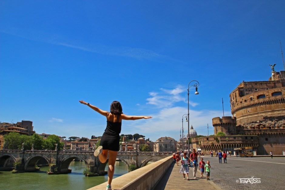 Castel Sant' Angelo,Ponte Angelo, Rome, Italy