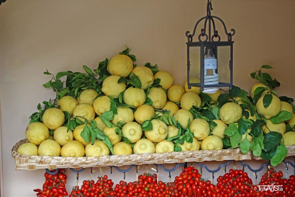 Lemons in Positano, Amalfi Coast, Italy