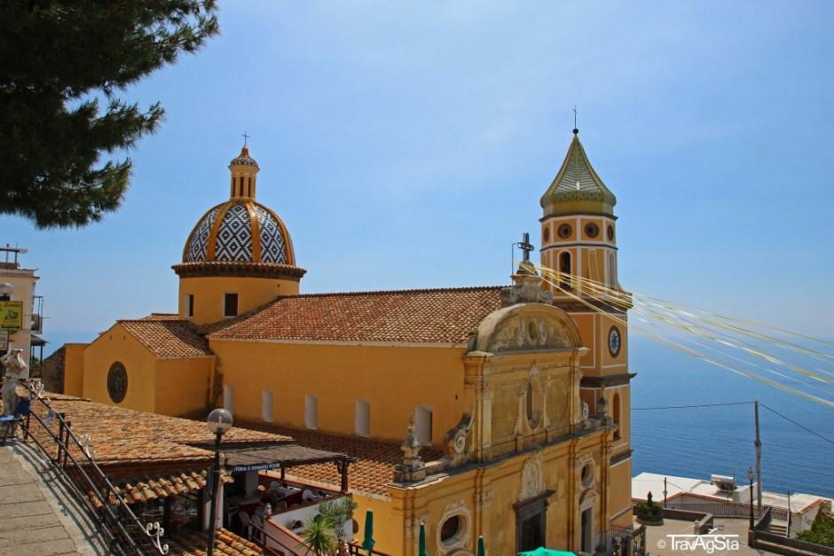 Church in Praiano, Amalfi Coast, Italy