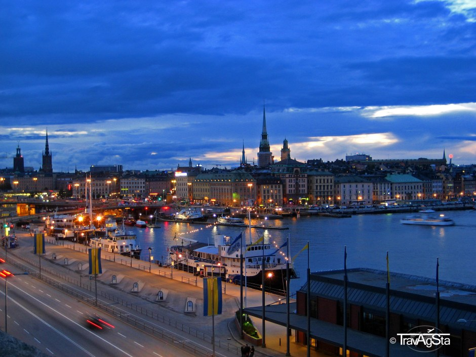 View from the port to Gamla Stan, Stockholm