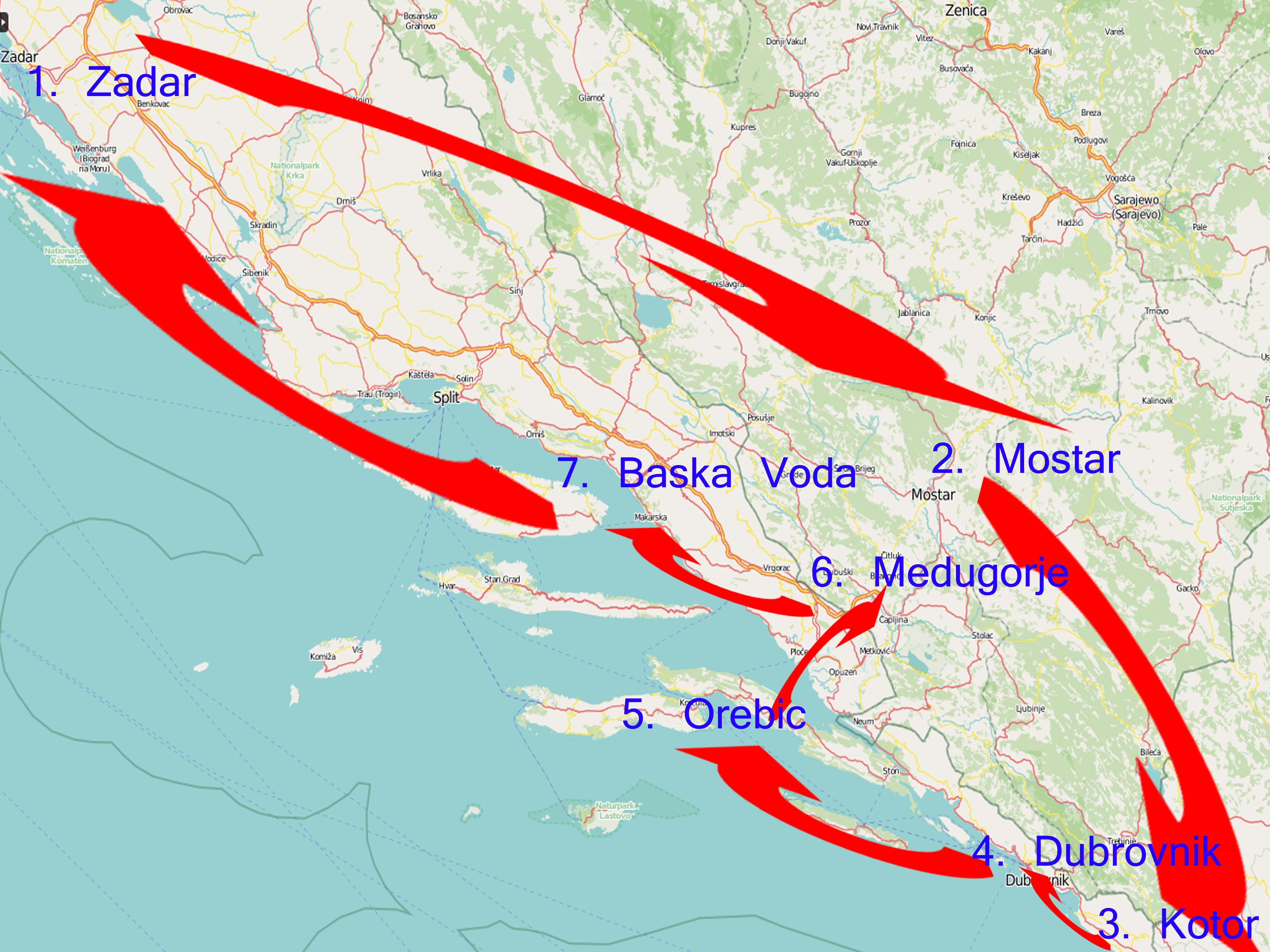 Routenvorschlag West-Balkan in 10 Tagen!