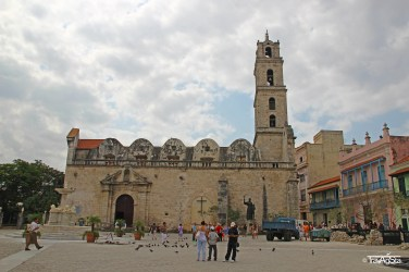 Basilica on Plaza de San Francisco, Havana, Cuba