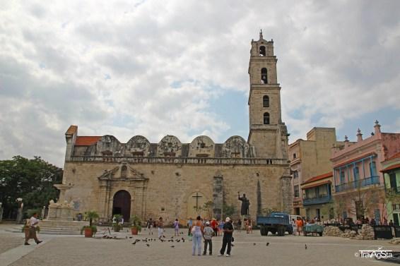 Basilica on Plaza de San Francisco, Havana, Cuba