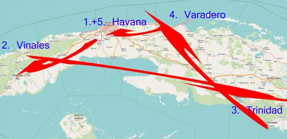 Routenvorschlag West-Kuba in 2 Wochen