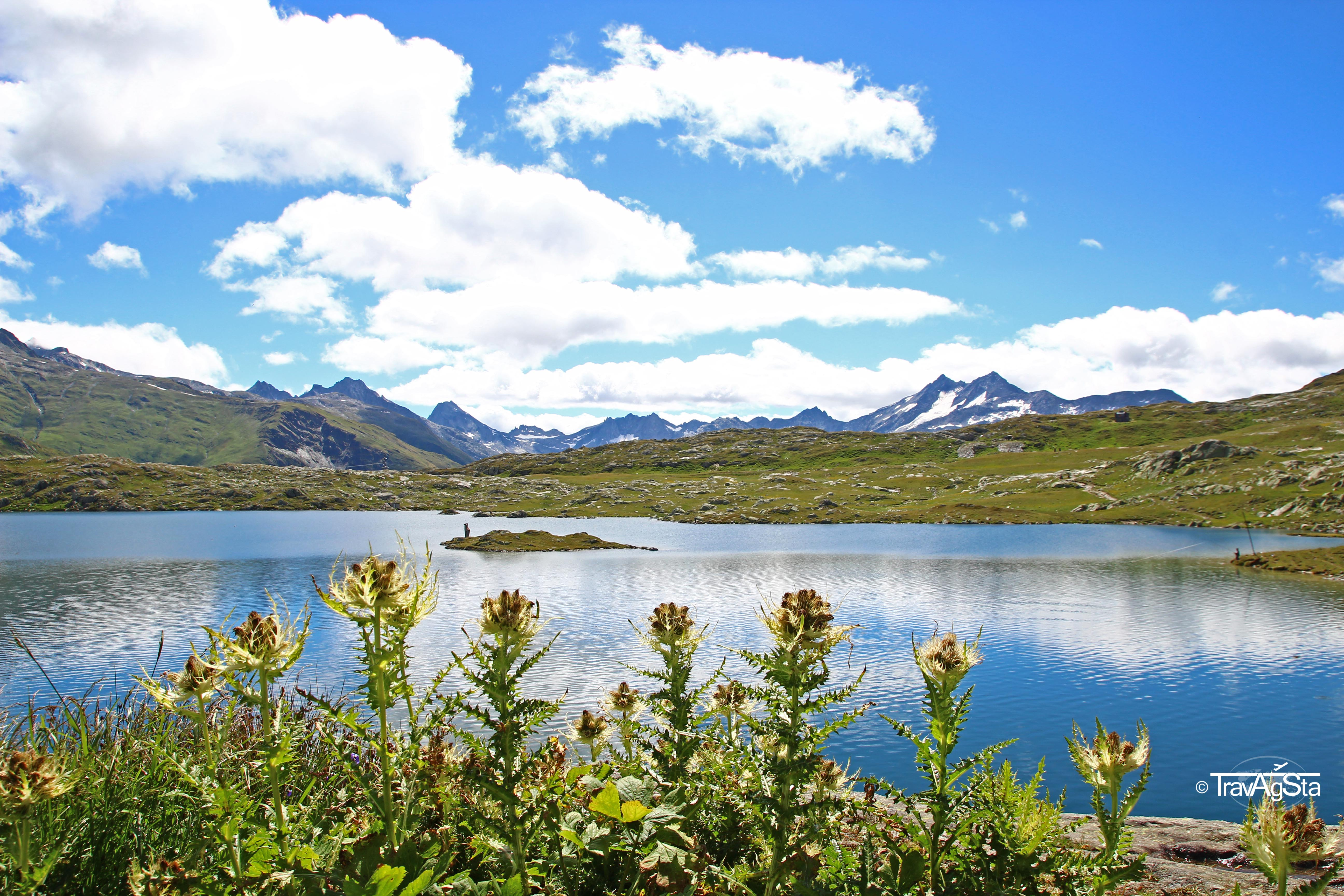 Lake next to viewpoint of Grimselsee, Switzerland