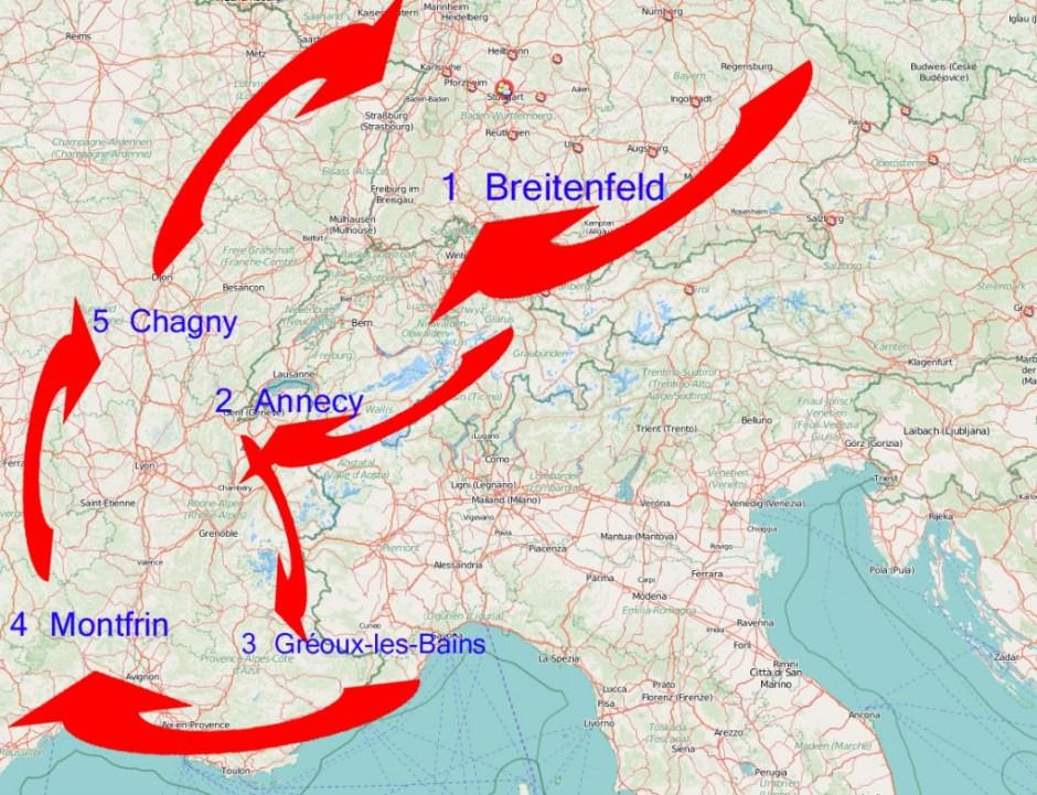 France-Switzerland-Germany