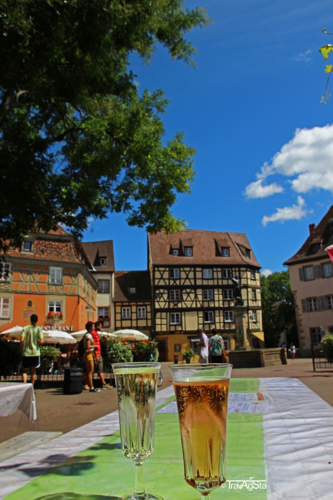 Cremant d'Alsace, Colmar, Alsace, France