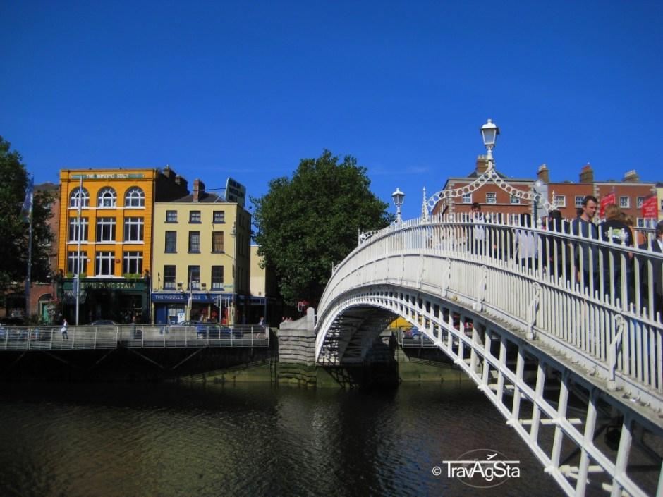 Halfpenny Bridge, Dublin, Irland