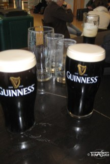 Last Guinness at the Airport - can you see the tears in it?