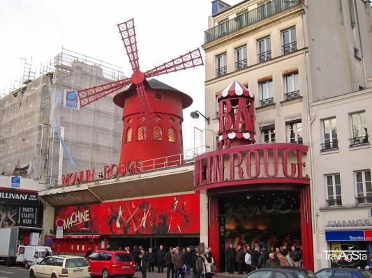 Moulin, Rouge, Paris, France