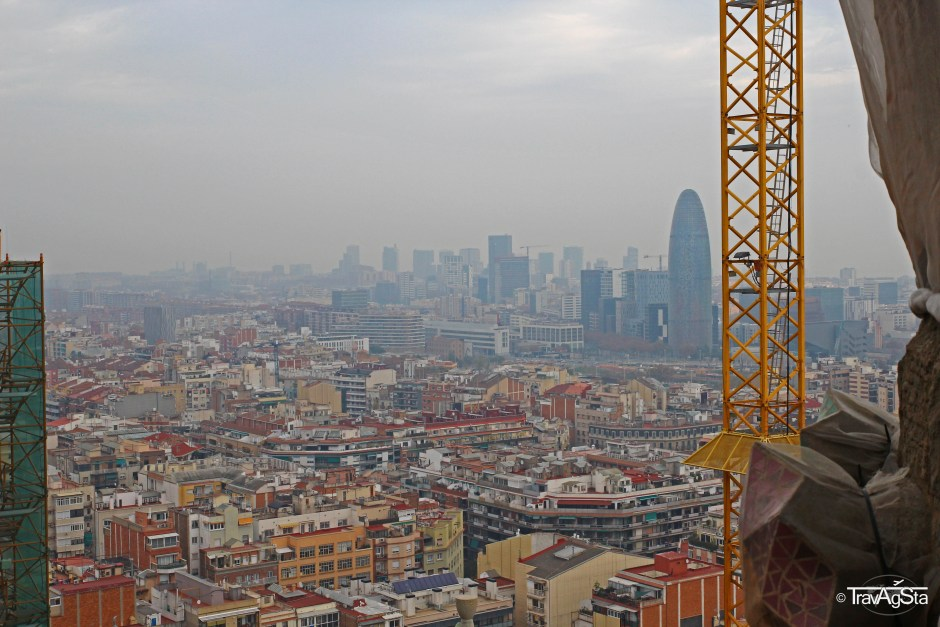 View from La Sagrada Familia, Barcelona, Spain