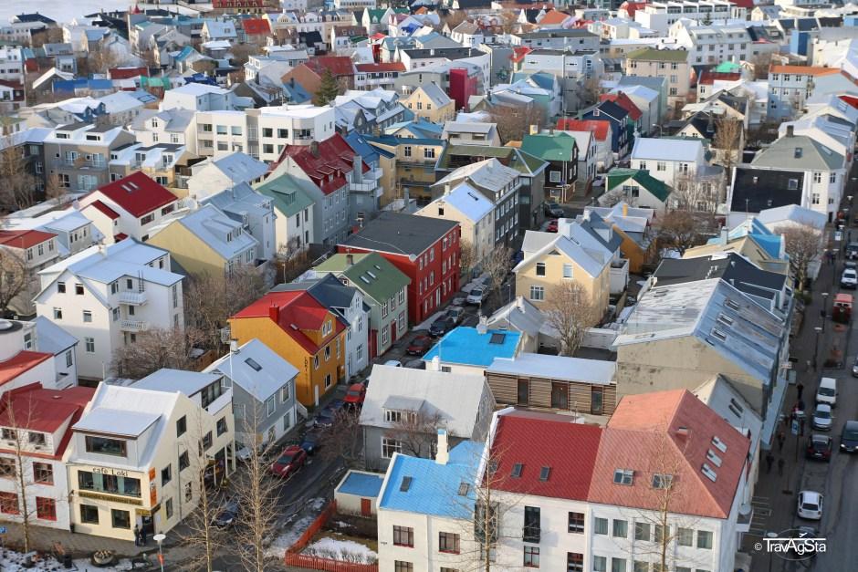 View from Hallgrimskirkja, Reykjavik, Iceland