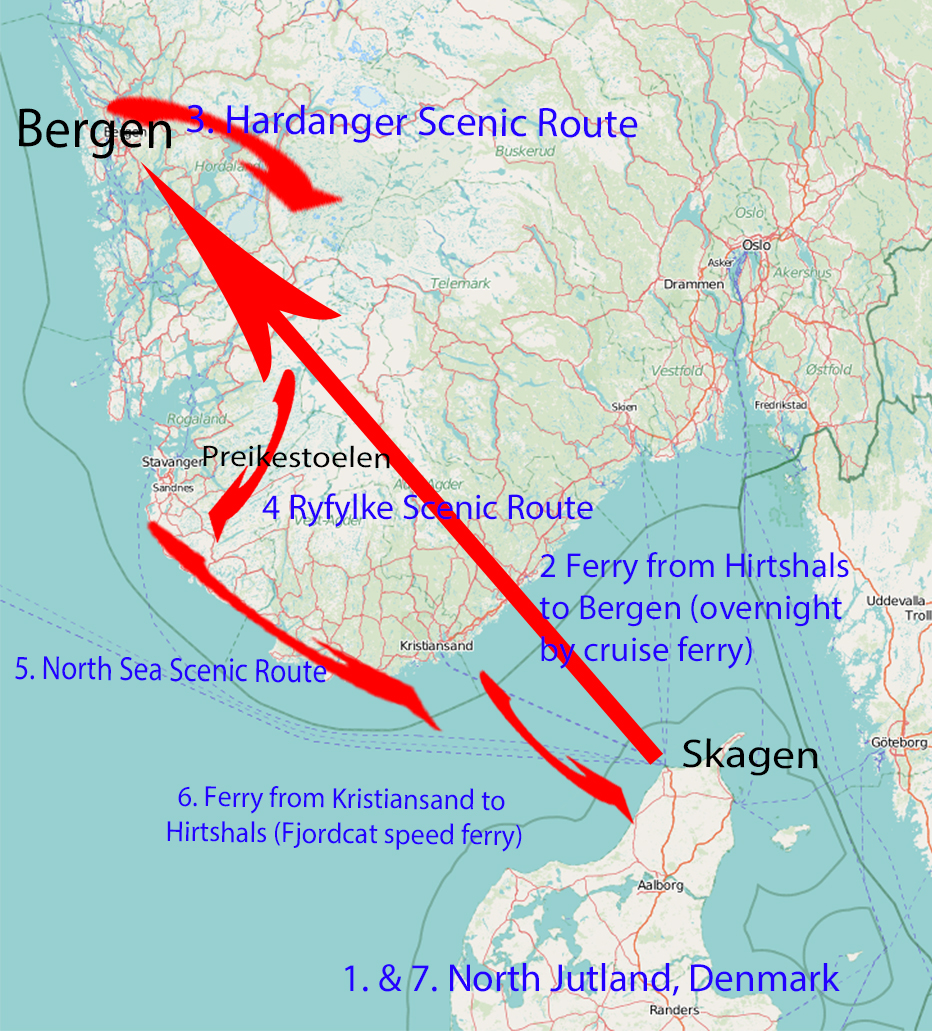 Itinerary for Norway & Denmark in 1 week