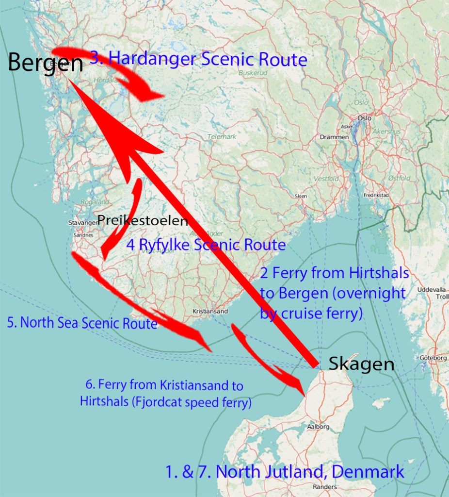 Itinerary for Denmark and Norway in 1 week