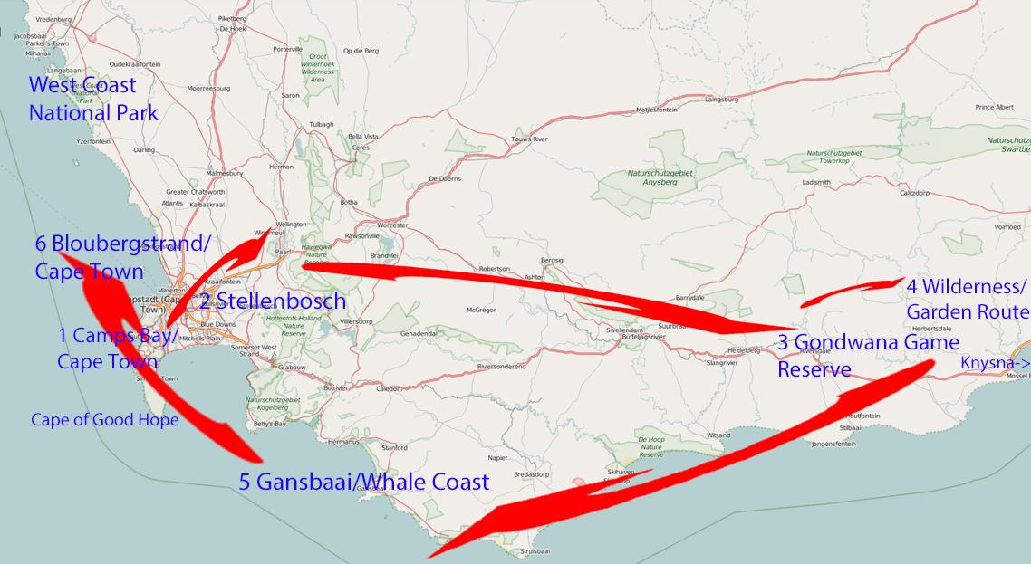 Routenvorschlag für 2 Wochen Südafrika – Kapstadt bis zur Garden Route