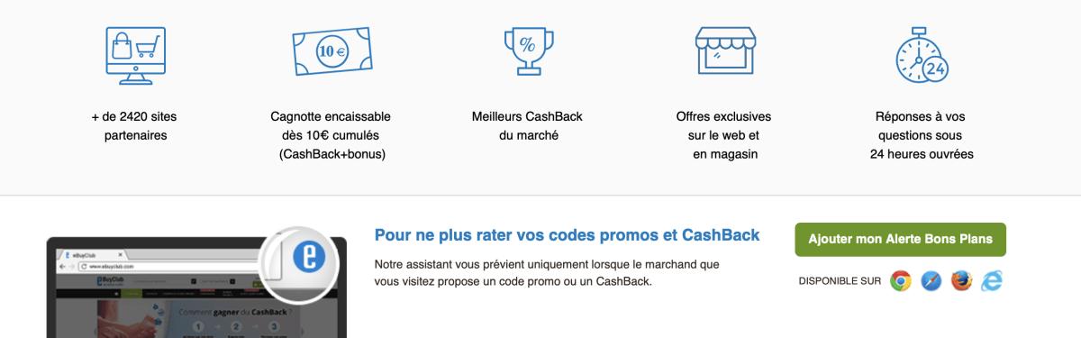 cashback argent