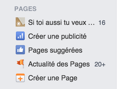 creer une page