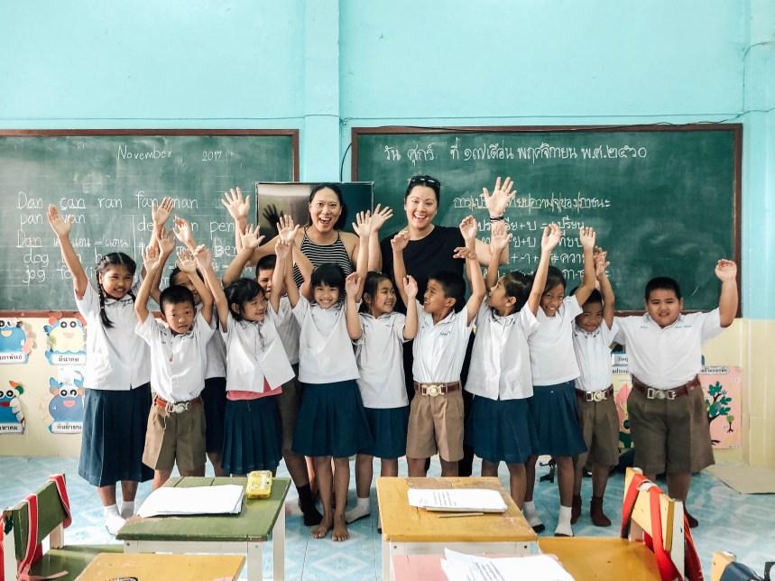 School kids in Thailand