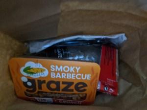 Snack Bag on Flight
