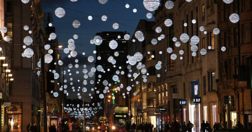 Oxford Street Christmas Lights circa 2014
