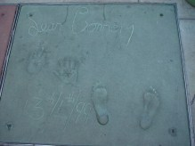 Handprints in front of Grauman's Chinese Theater on the Hollywood Walk of Fame