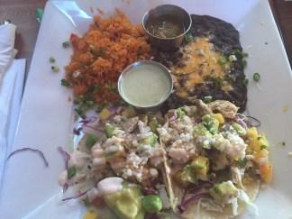 Fish tacos @ Baja Cantina in Venice Beach