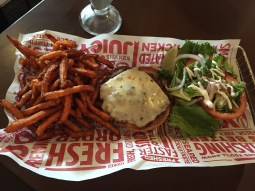 Smashburger & sweet potato fries
