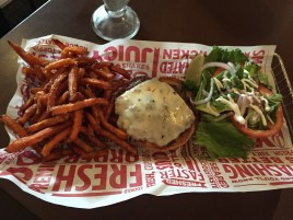 Smashburger & sweet potato fries