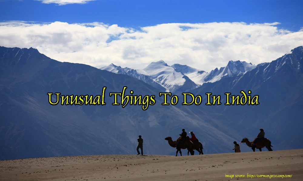 Unusual Things To Do In India