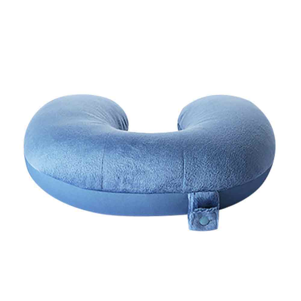 micro pearls travel neck pillow grey