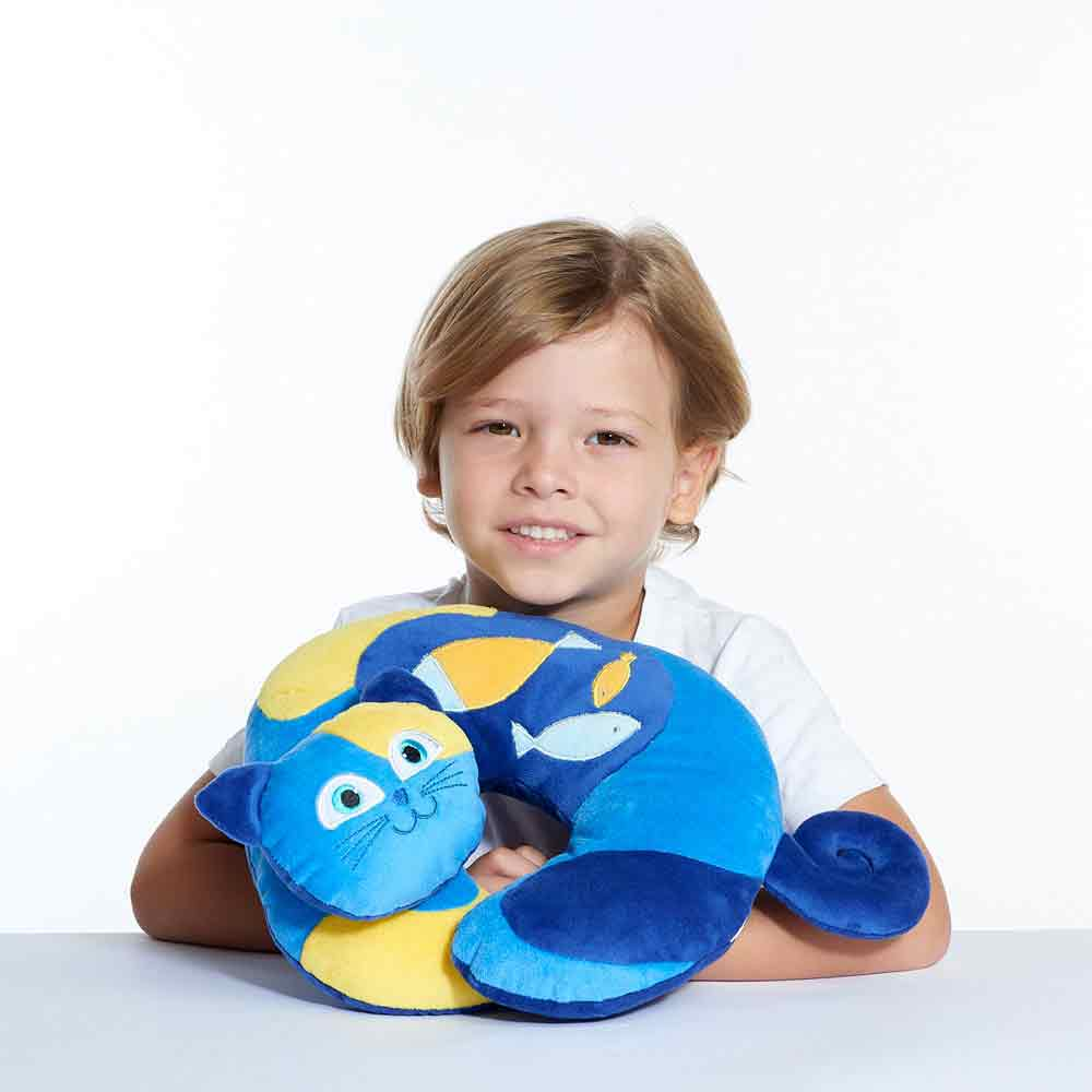 kitty the cat travel pillow for kids