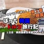 【関西空港】関空を散策してカツカレー食べてみた 韓国トルコ旅行記2