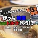 【韓国料理】ソルロンタンを食べ、韓国を解説!! 韓国トルコ旅行記7
