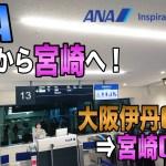 【搭乗記】ANA NH511 大阪伊丹(ITM)⇒宮崎(KMI) / 伊丹夜発は夜景が綺麗!