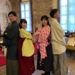 北海道 函館旅行 レンタル衣装 みんなで袴体験 大学時代の先輩と後輩