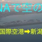 ANAで行く空の旅 中部国際空港➡︎新潟空港