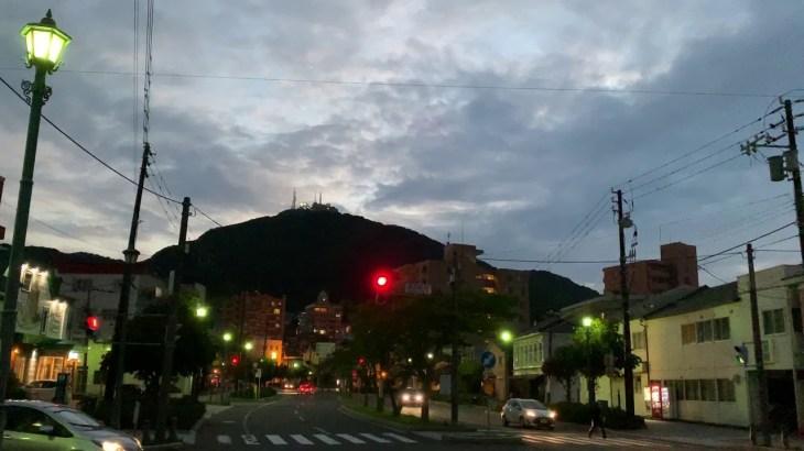 北海道旅行 秋の函館山 夜景は最高です。モダン衣裳館