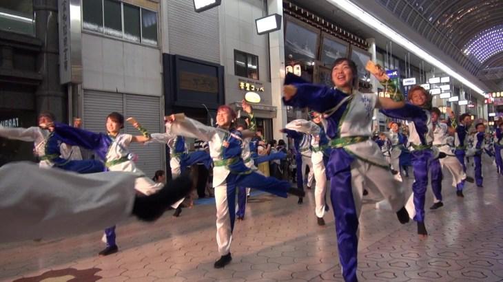 高知学生 旅鯨人(高知よさこい祭り2019)本祭2日目・帯屋町演舞場
